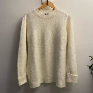 ASOS Chunky Sweater with Deep Cuff in Fluffy Yarn